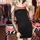SEXY SHEER LONG SLEEVE BANDAGE DRESS SIZE S 2 - 4