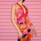 HOT PINK MULTI CLUBBING DRESS SIZE SMALL 2 - 4