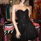 Black  Beaded Tu Tu Dress size Med 6 - 8