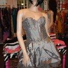 Silver Beaded Tutu dress S 2-4