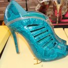 Hot Blue Snake  Bootie 6 1/2