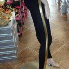 Sexy Black Legging with Gold Stripe