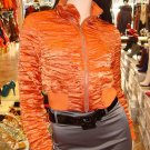 Santeen Crinkled Rust Crop Jacket  Size Small