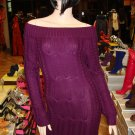 Purple Sweater Mini Dress Size Small 2- 4