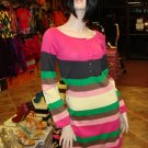 New Multi Stripe Sweater Dress One Size