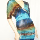 Blue Multi Mini Dress Size  Medium
