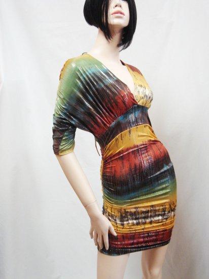 Brown Multi Mini Dress  Size  Medium