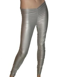 Silver Scrunch Leggings Medium