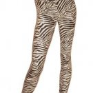 Zebra Sequin Legging Size  Medium