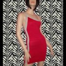 Pink and Grey One Shoulder Bandage Dress Large