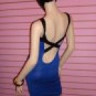 Blue and Black Bandage Dress Size Medium