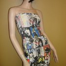 Cartoon Multi Print Tube dress Size Medium