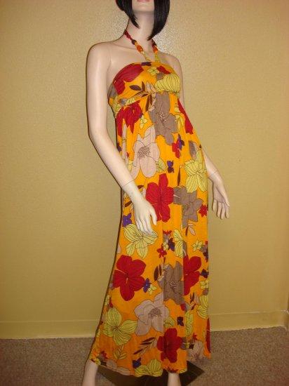 Flower Print  Maxi Dress Size  Large