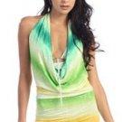 Green Multi Print Mini Dress Small