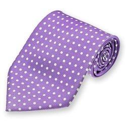 Purple Newport Dotted Silk Tie