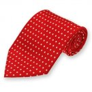 Red Newport Dotted Silk Tie