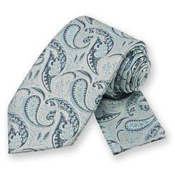 Powder Blue Classic Paisley Tie and Pocket Square Set