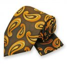 Mustard Striped Paisley Tie and Pocket Square Set