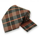 Orange Lennox Plaid Tie and Pocket Square Set