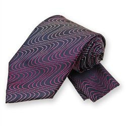 Lapis Ombre Wave Tie and Pocket Square Set