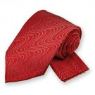 Red Ombre Wave Tie and Pocket Square Set