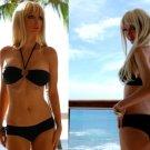 *L* Black Brazilian Bandeau Bikini Set *NWT Large *Resort Style* Swimsuit Swimwear