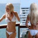 *L* *HOT Brazilian Bikini SET* White Padded Chain Swimsuit NWT  Large