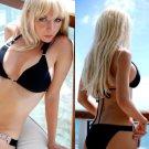 *L* *HOT Brazilian Black Bikini* Black Chain Brazilian Metal Swimsuit Swimwear Large