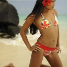 ♡♥ S *HOT Brazilian Triangle Bikini TOP* Red Hibiscus Swimwear Swimsuit NWT SMALL♥♡