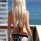 ♡♥L *HOT Brazilian Bikini BOTTOMS*  Animal Metal Side Swimsuit Swimwear NWT Large