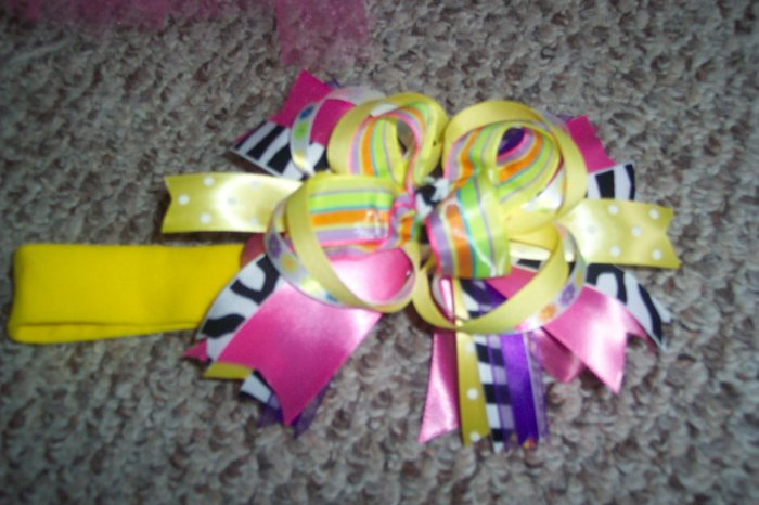 baby large bow headband