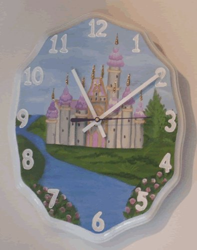 Hand Painted Princess Castle Clock