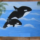 Hand Painted Killer Whale and Under the sea Toy Box