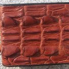 100% Genuine Big Tail Brown Alligator wallet