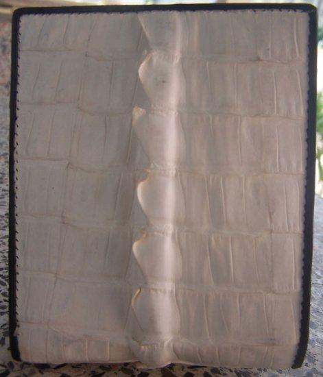 100% Genuine Big Tail White Crocodile skin wallet