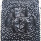 100% Genuine Black Hornback Crocodile skin wallet
