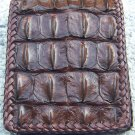 100% Genuine Chocolate Backbone Crocodile skin wallet