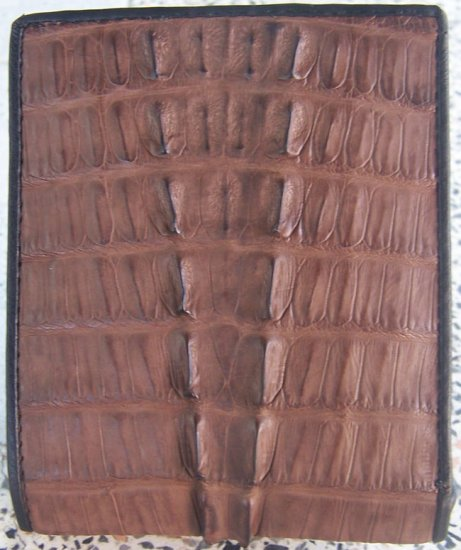 100% Genuine Dark Brown Tail Crocodile Skin Wallet