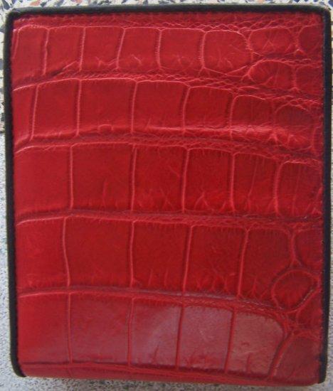 100% Genuine Red Crocodile Skin Leather Wallet