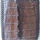 100% Genuine Stitch Edge Big Tail Dark Brown Crocodile skin wallet