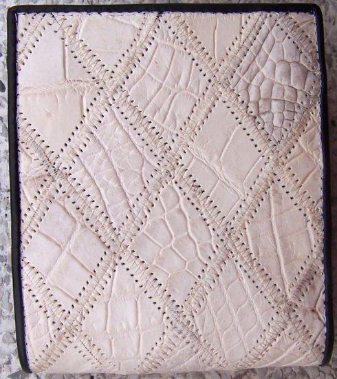 100% Genuine White Crocodile Scrap Skin Wallet