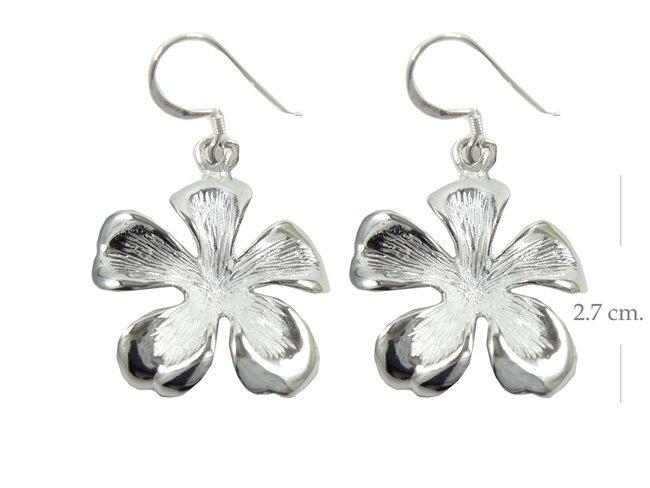 925 Sterling Silver Flower Dangle earrings