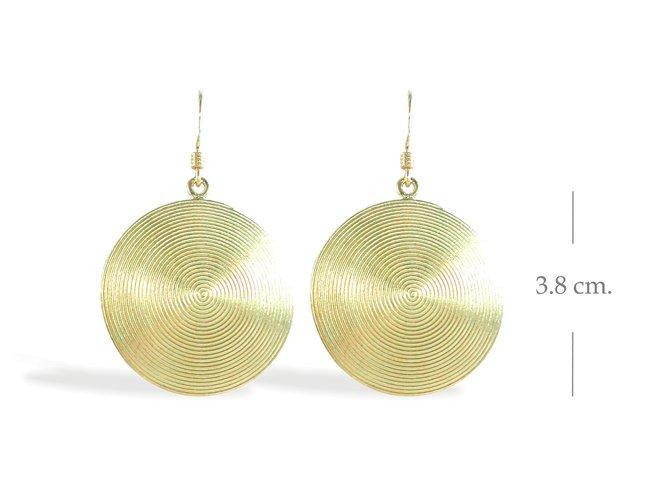 Thai Karen Hill Silver 14K Gold Plated Dangle Earrings