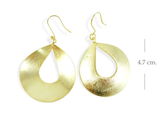 Thai Karen Silver 14k Gold plated Drop Shape Earring