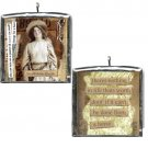 Stockshow Cowgirl. Altered art collage PENDANT.. CHARM COWGIRL THEMED