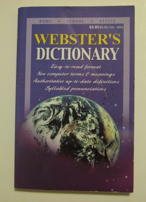 Webster's Dictionary, Paperback, 2003, 189 Pages by Kappa