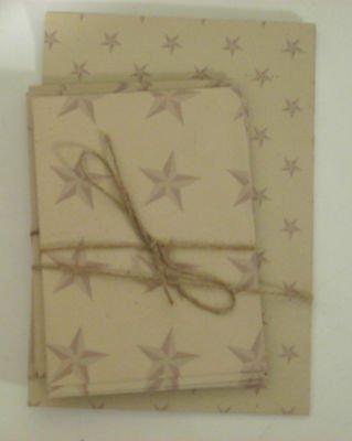 Star Theme on Beige Background Vintage Sheets and Envelopes