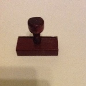 wood mount for rubber stamp