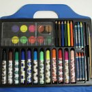 Art Drawing Case With Crayons, Paint Palette, Markers, Pencils