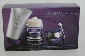 Avon Anew Platinum Recontouring System Facial Set